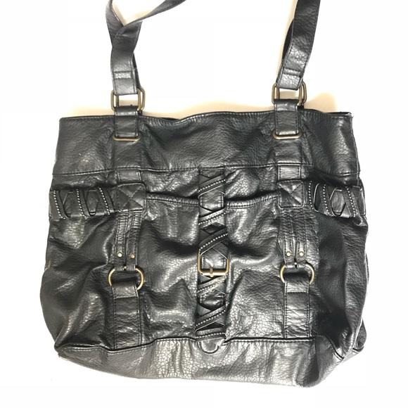 a922bfb28a Converse Handbags - Converse black faux leather tote bag